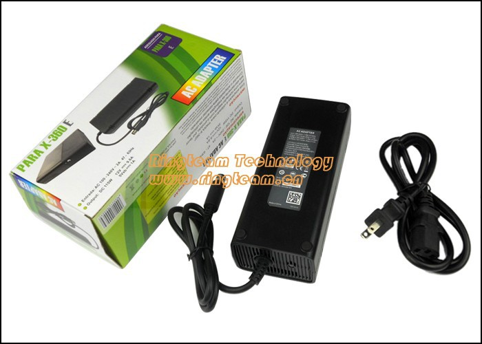 AC Adapter for XBOX 360 Elite Game. PARA X-360 E AC Adapter