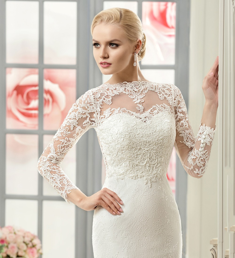 Weddings & Events New Arrival Real Photo Sweetheart White Bride Gowns Vestidos De Noiva Pleat Chiffon Mermaid Wedding Dresses 2015 Wd201