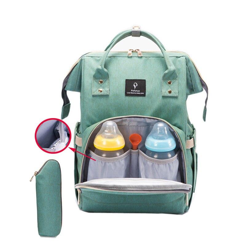 Windel Tasche USB Große Kapazität Windel Tasche Wasserdichte Mom Mutterschaft Reise Rucksack Desinger Pflege Tasche Baby Pflege Kinderwagen Handtasche