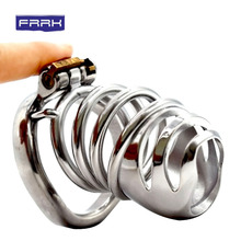 FRRK Male Chastity device cock Cage metal Belt Sex Toys Penis CB6000 penis ring  Drop shipping