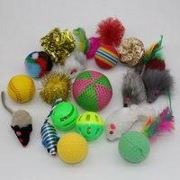 18 Variedade de Pequenos Brinquedos Brinquedos Valor Pacotes de Brinquedos do animal de Estimação Do Gato, Rato, Bola, Meias