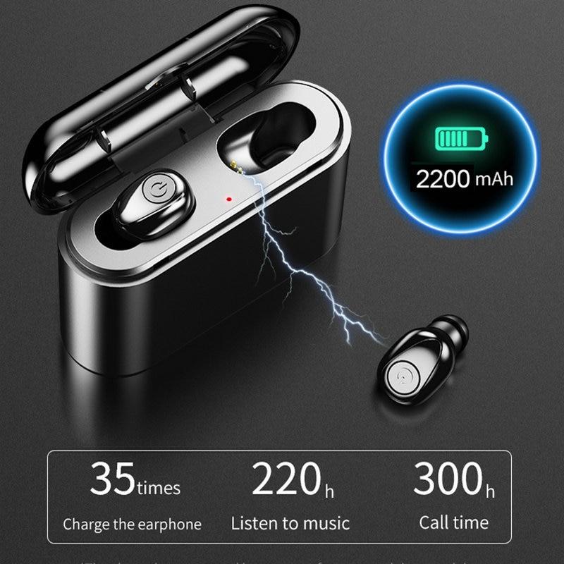 10pcs lot X8P TWS True Wireless Earbuds 5D Stereo Bluetooth Earphones Waterproof Headfrees with 2200mAh Power