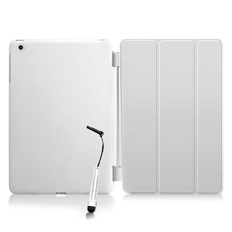 New Smart Stand Magnetic Leather Case Cover For Apple iPad Mini 1 2 3 colour White