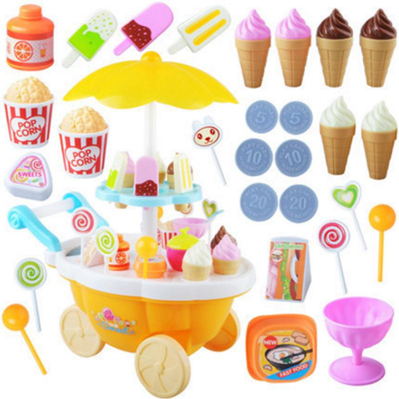 2-1-Set-Kids-Kitchen-Toys-Mini-Pusher-Car-Toy-Candy-Ice-Cream-LED-Kids-Pretend-Play