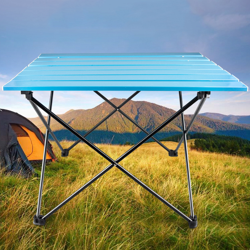 Portable Table Foldable Folding Camping Hiking Desk Traveling Outdoor Picnic New Al Alloy Ultra-light Outdoor chair beach chair