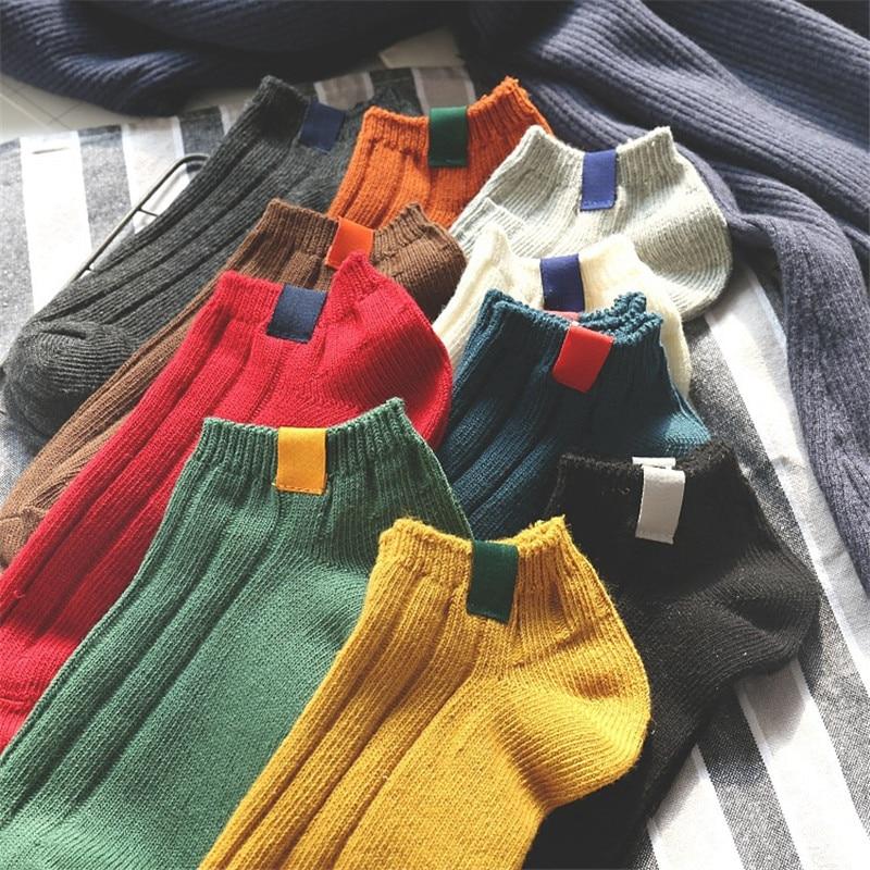 1 Pair Women's   Sock   Colorful Design Art Cute Short   Socks   High Quality Autumn Summer Cotton Solid Color Female   Socks   Harajuku Sox