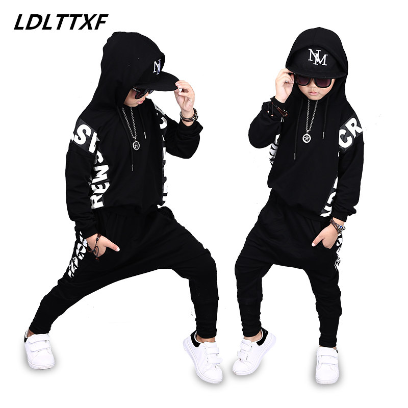 Boy clothes Autumn clothing sets Children Boys Letter Brand Ninjago costume Clothes Kids Hooded T-shirt And Pants 2 Pcs Suits