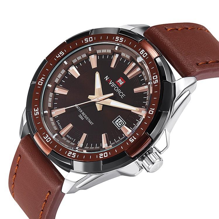 Mens Watches Top Brand Luxury NAVIFORCE Sport Men's Quartz Watch Waterproof Wristwatch Leather Male Clock Relogio Masculino 7
