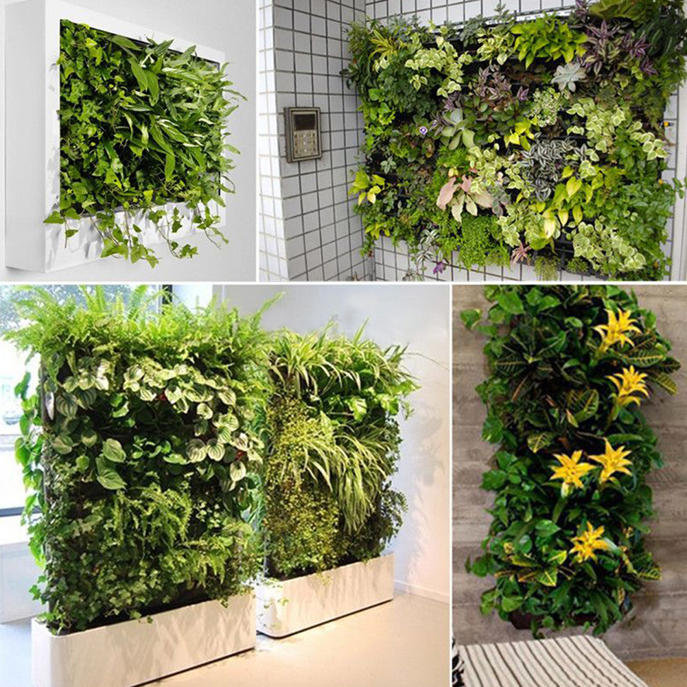64 Pocket Hanging Vertical Garden Planter Indoor Outdoor Herb Pot ...