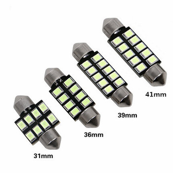 Festoon 31mm 36mm 39mm 42mm LED Bulb C5W C10W 2835 SMD Canbus Error Free Auto Interior Dome Lamp Car Styling Light 12v white