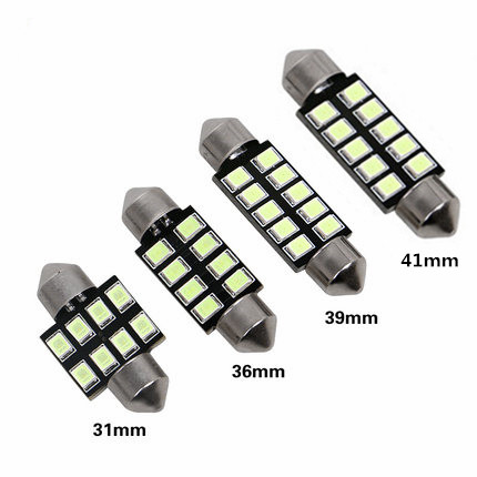Festoon 31mm 36mm 39mm 42mm LED Bulb C5W C10W 2835 SMD Canbus Error Free Auto Interior Dome Lamp Car Styling Light 12v white 10pcs led car interior bulb canbus error free t10 white 5730 8smd led 12v car side wedge light white lamp auto bulb car styling