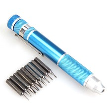 Hight Quality Blue Handle Different Shapes 10 In 1 Precision Screwdriver Bit Set Torx Star Phillips Repair Tool Kit HR