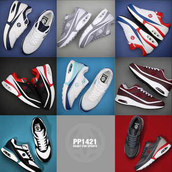 Newest Premium Paperplanes 1421-1  Air Cap Leather Lace Up Training Shoes Trainers Sneakers-