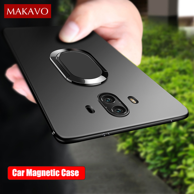 brand new 7d7e5 3dafc US $4.24 15% OFF|MAKAVO Case For Huawei Mate 20 Pro 360 Protection Soft  Silicone Car Holder Magnetic Cover For Mate 10 Pro Mate10 Phone Cases-in ...