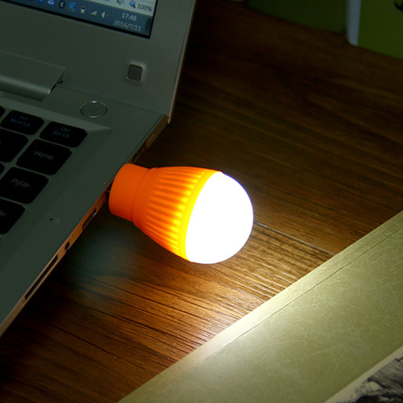 LED Bulb USB Book Lights Night Light Outdoor Flashlight Emergency Lamp For Laptop Reading Camping home bed Energy Saving lights
