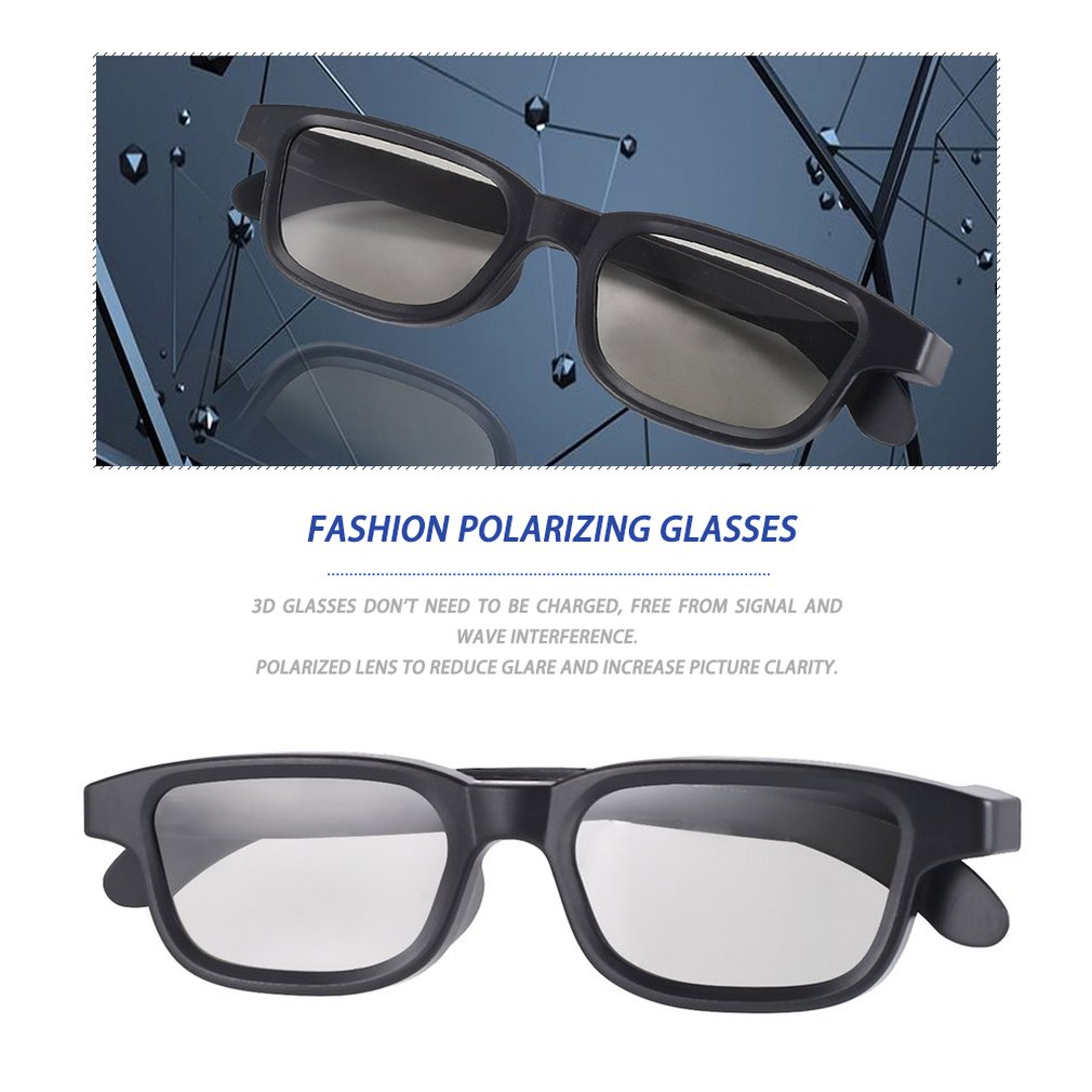 G90 Passive 3D Glasses Polarized Lenses For Cinema Lightweight Portable For Watching Movies For Presents(China)