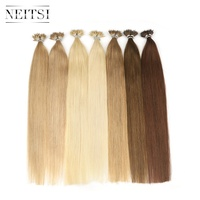 Neitsi Straight Micro Beads None Remy Nano Ring Links Human Hair Extensions 16 20 24 1.0g/s 50g 100g Blonde Black 20 Colors
