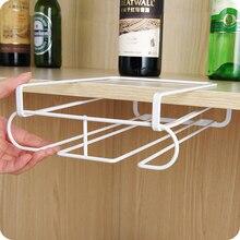 Nova barra de cozinha aço inoxidável durável champanhe vinho óculos titular goblet rack parede pendurado copo rack armazenamento #233581