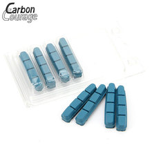Professional Carbon Wheel Compound Bicycle Brake 4 Pieces Pads Replacement For Road Bike Cork Wood Material