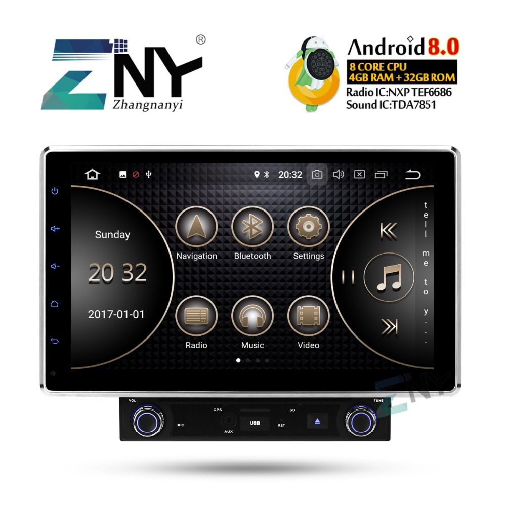 "2019 Best 10.1"" In Dash Double 2 Din Universal 8 Core Car Stereo Android 8.0 Auto Radio FM RDS GPS Navigation Audio Video Player"