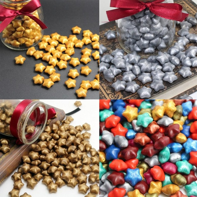 PREUP 100 Pieces Lot With Bag Packing Vintage Lucky STAR Shape Sealing Wax Stamp