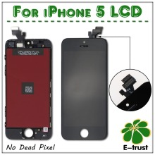 No dead pixel! 20 pcs/lot grade A LCD assembly screen replacement display touch screen Digitizer for iphone 5 5G White and Black