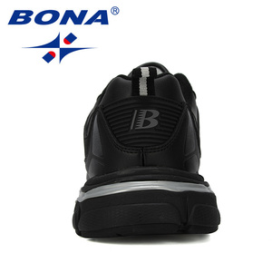 Image 3 - BONA 2019 New Designer Men Running Shoes Cow Split Krasovki Lace Up Non Slip Sport Shoes Men Sneakers Men Zapatillas Hombre Shoe