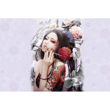 artistic geisha diamond Embroidery diy painting mosaic diamant 3d cross stitch pictures H171