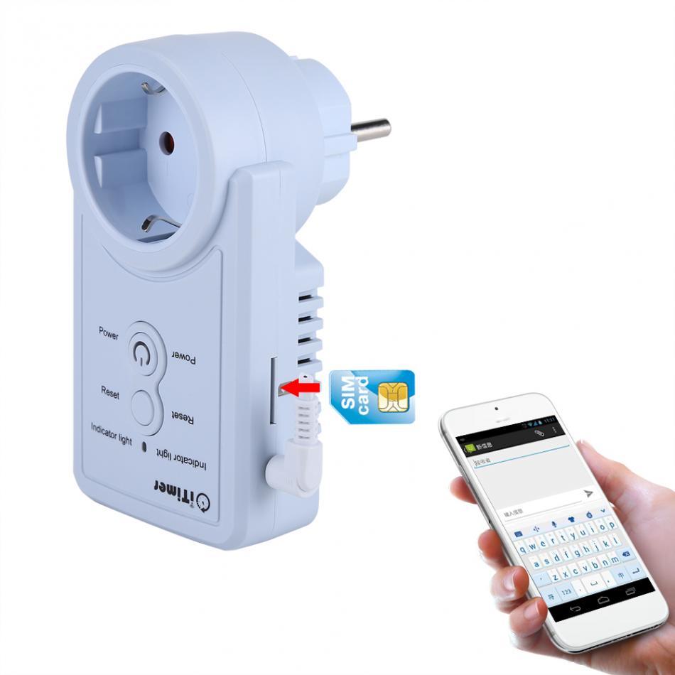 Prise de courant intelligente GSM avec capteur de température contrôle de commande SMS accessoires de Version russe