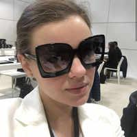 HBK dames lunettes de soleil carrées 2019 nouveau Style lunettes de soleil conception de marque femmes grand cadre lunettes pour les nuances de plein air lunettes Oculos