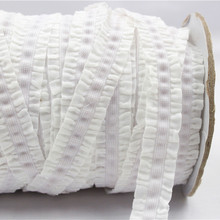 1630203,16 mm solid crochet flower fold over elastic tape, 10yards of hair ring DIY handmade clothing accessories, Free Shipping