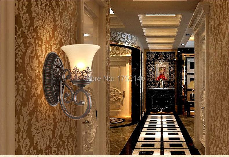 Plafoniere Da Parete Classiche : Lampade da parete classica stile regale riparo della per