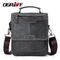 OGRAFF Men Bag Handbags Genuine Leather Bags Designer Portfolio Shoulder Bag Male Messenger Crossbody Bag 2017
