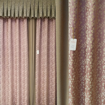 New flower Chenille Jacquard Blinds Fabric Window Curtain pink Silver Black Out Custom Size Shade Thermal Style for Bedroom window valance