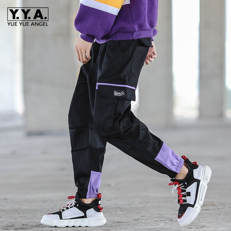 Harajuka Pockets Mens Casual Safari Ankle Length Pants Elastic Waist Loose Fit Plus Size M-5XL Male Fashion Cargo Harem Pants