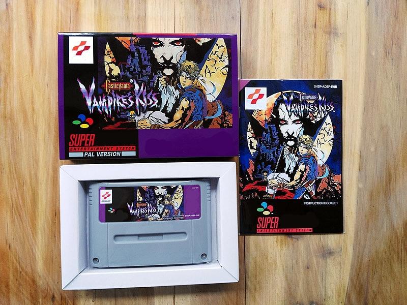 Jeux 16Bit ** baiser de Vampire Castlevania (Version EUR PAL!! Boite + manuel + cartouche!!)
