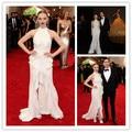 Mgc03 Met Gala vestidos de celebridades elegante Amanda Seyfried Red elbise manga vestidos vestidos de noite