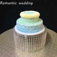 Rodada Clear Acrylic Cake Stand Com Cristal Pendurado 20 16 polegada polegada Quadrada Evento & Fontes Do Partido decorações Do Casamento do partido decoração