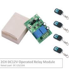 RF Switch Remote Control DC 12V 2 Gang Relay Receiver and 1527 learning code Transmitter For LED Light Electric Device Control цена