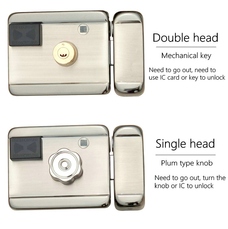 All metal IC card wireless remote control home electronic lock smart lock security door sensor unlock mechanical key one lock