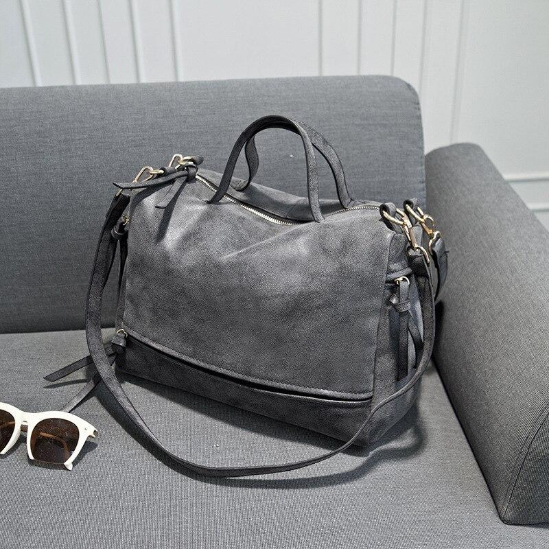 2016 Women Scrub Leather Handbags Motorcycle Shoulder Bag Retro Women's Messenger Bags Casual Ladies Big Totes