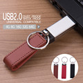 New arrival real capacity 3 colors Leather USB Flash Drive 4GB 8GB 16GB 32GB keychain Pendrive 32GB flash Memory stick Pen Drive