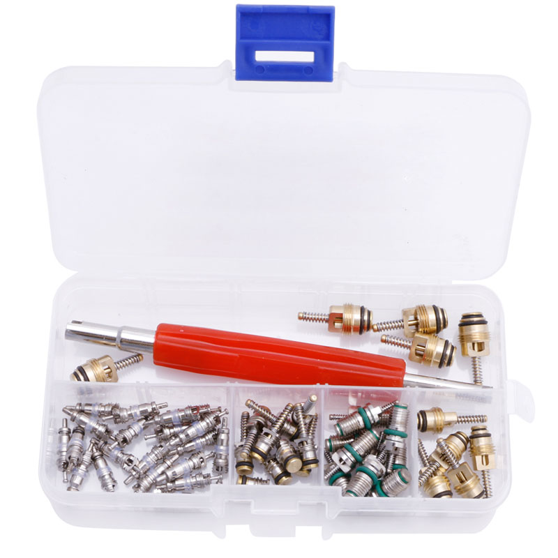 50Pcs A/C Core Valve R12/ R134A Air Conditioning Auto Car Assortment Remover Kit New hot sell