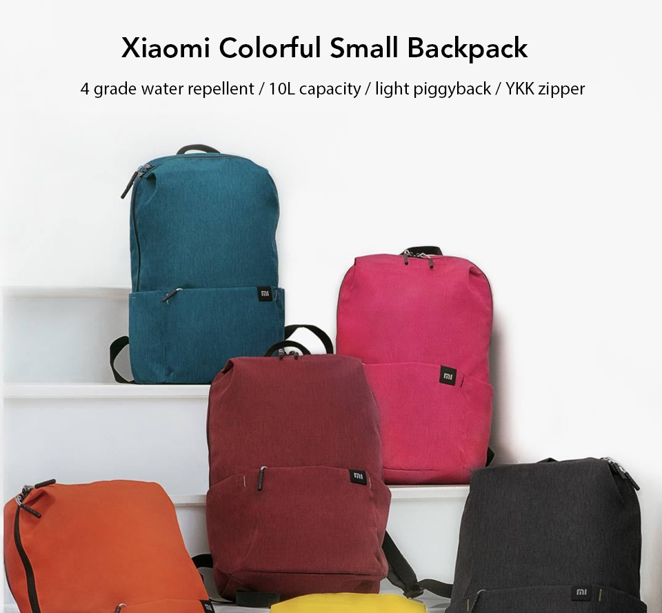 Original Xiaomi 10L Backpack Bag Colorful Leisure Sports Chest Pack Bags Unisex For Mens Women Travel Camping (1)