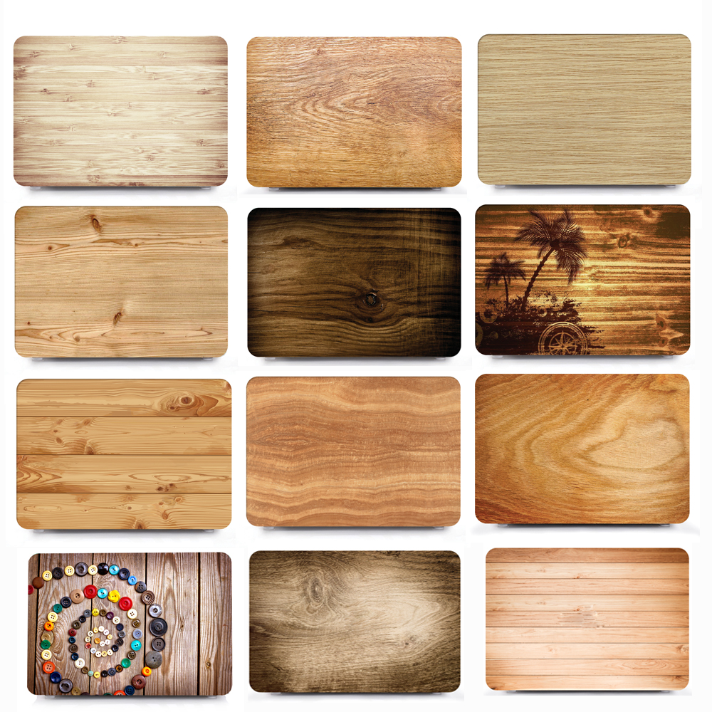 Wood pattern Laptop case cover For 2018 Apple Macbook Air 13 3 inch A1932 Pro 13 15 Touch Bar A1707 A1990 Laptop Case Cover in Laptop Bags Cases from Computer Office
