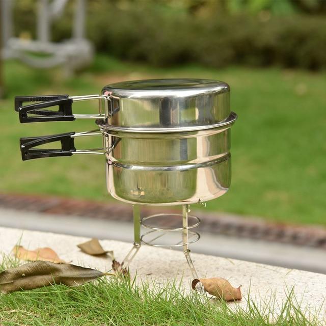 Camping Rucksack Kochen Werkzeuge Outdoor Tragbare Kochtopf Set ...