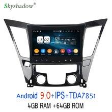 "HD "" Android 9,0 Восьмиядерный 4G+ 64G для hyundai SONATA I40 I45 I50 YF 2011- Автомобильный магнитофон gps wifi Bluetooth 4,2"