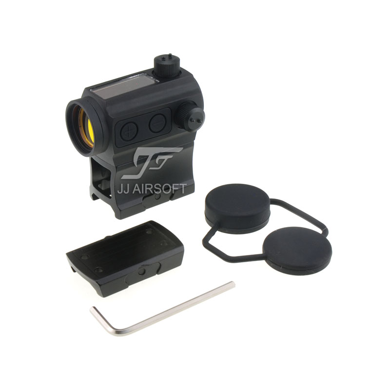 TARGET 1x24 Solar Power Red Dot with Riser Mount , Low Mount (Black) HS503C HS403C IPSC