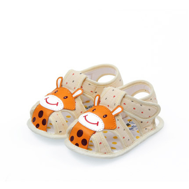 Summer Baby Shoes Infants Boys Girls Anti Slip Footwear Cute Cotton High Quality Animal Print Baby Shoes For Girls 80A1069