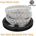 5M DC12V IP67 Silicone Tube Waterproof 5050 SMD 60LED/M 300LEDs White color Flexible LED Strip Light 12V 60 LED/M